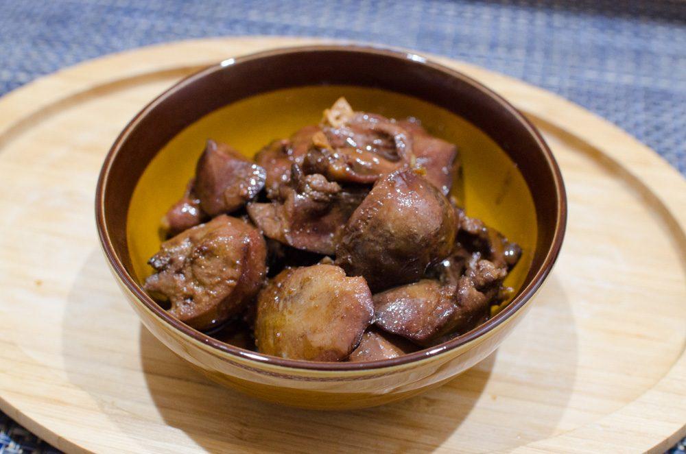 鶏レバーの甘煮1